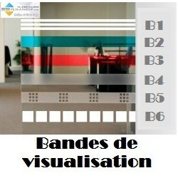 Bandes adhesives de visualisation : Translucide