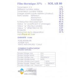 Film thermique 33%