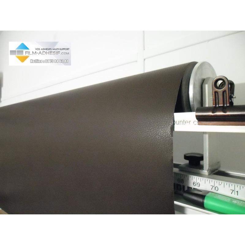 film cuir 3 D brun