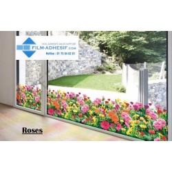 film décoratif fleurs (Roses)