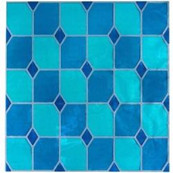 film déco : Vitrail couleur bleu