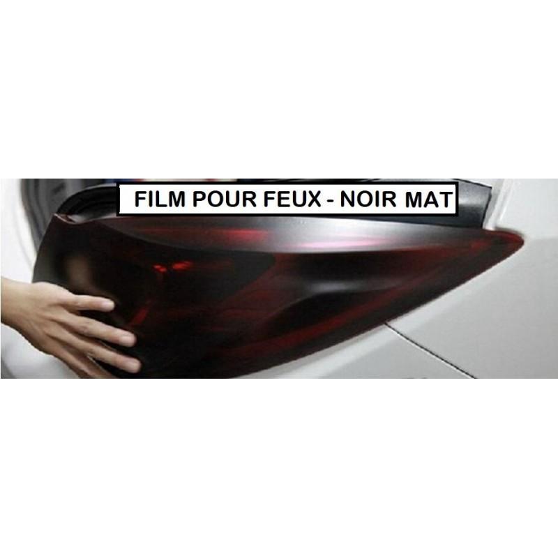 film teinté pour feux black mat